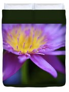 Purple Water Lily Petals Duvet Cover