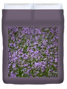 Purple Wildflowers Square Duvet Cover
