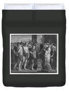 Pylades And Orestes Duvet Cover