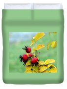 Pyracantha Berries Life Duvet Cover
