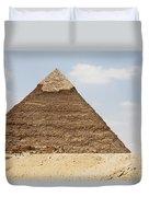 Pyramid Of Khafre Chephren, Giza, Al Duvet Cover