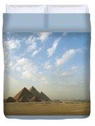 Pyramids,giza,egypt Duvet Cover