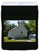 Quaker Church Duvet Cover by Scott Hervieux