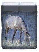 Quarter Horse In Blue Duvet Cover by Betty LaRue