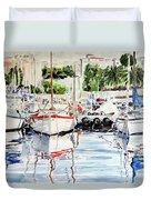 Quattro Barche Al Pennello Di Bonaria Duvet Cover
