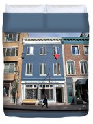 Quebec City Street View Duvet Cover