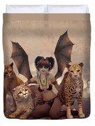 Queen Of Cats Duvet Cover