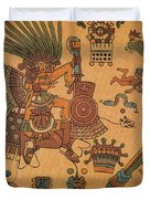 Quetzalcoatl, Aztec Feathered Serpent Duvet Cover