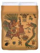 Quetzalcoatl, Aztec Feathered Serpent Duvet Cover