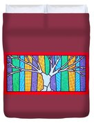 Quilted Winter Tree Duvet Cover
