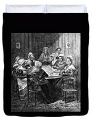 Quilting Party, 1864 Duvet Cover