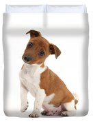 Quizzical Puppy Duvet Cover