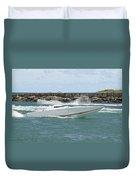 Race Boat Duvet Cover