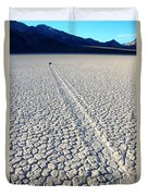 Racetrack Death Valley Trail Of Mystery Duvet Cover