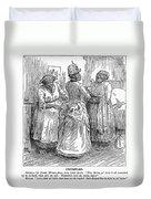 Racial Caricature, 1886 Duvet Cover