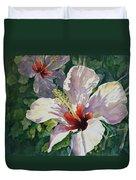 Radiant Light - Hibiscus Duvet Cover