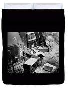 Radio Operator Operates His Scr-188 Duvet Cover