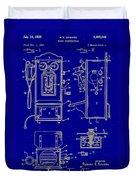 Radio Phone Patent Duvet Cover
