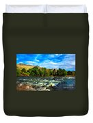 Raging River Duvet Cover by Robert Bales