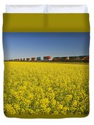 Rail Cars Carrying Containers Passe Duvet Cover