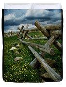 Rail Fence No.1812 Duvet Cover