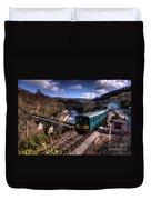 Railcar At Berwyn Duvet Cover