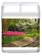 Railroad Beauties Duvet Cover