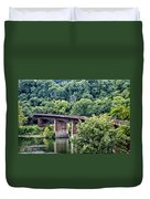 Railroad Bridge At East Falls Philadelphia Duvet Cover