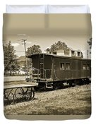 Railroad Car And Wagon Duvet Cover