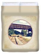 Railroad Tracks And Trestle Duvet Cover