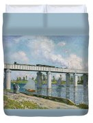 Railway Bridge At Argenteuil Duvet Cover