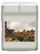 Rain At The Needles District Duvet Cover