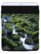 Rain Forest Stream Duvet Cover