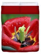 Rain Kissed Tulip 2 Duvet Cover