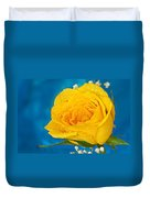 Rain On A Yellow Rose Duvet Cover