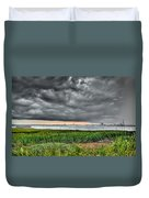 Rain Rolling In On The River Duvet Cover