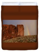 Rainbow And Red Rock Duvet Cover
