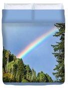 Rainbow Closeup Duvet Cover