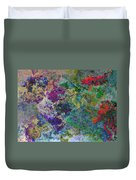 Rainbow Fish Watercolor Abstract Art Duvet Cover