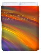 Rainbow Haiku Duvet Cover