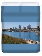 Rainbow Harbor Duvet Cover