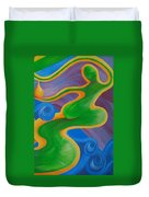 Rainbow Healing For Family Duvet Cover