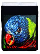 Rainbow Lorikeet Look Duvet Cover