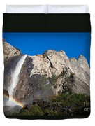 Rainbow On Bridalveil Fall Duvet Cover