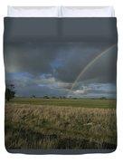 Rainbow Over Fields At Kangaroo Island Duvet Cover