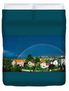 Rainbow Over Housing, Monkstown, Co Duvet Cover