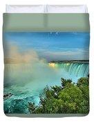 Rainbow Over Niagara Duvet Cover