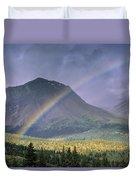 Rainbow Over Willmore Wilderness Park Duvet Cover