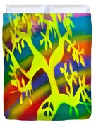 Rainbow Roots Duvet Cover
