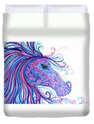 Rainbow Spotted Horse Duvet Cover